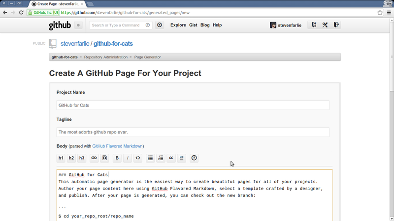 OpenTechSchool – Hosting static websites with GitHub Pages